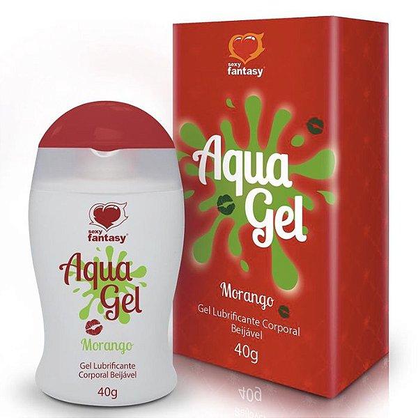 Gel Lubrificante Beijável Aroma Morango - Aqua Gel