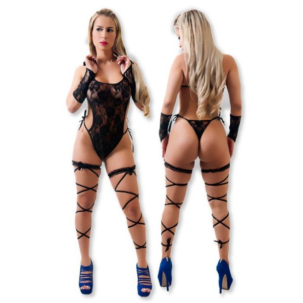 Body Glamour Preto - Erotic Point