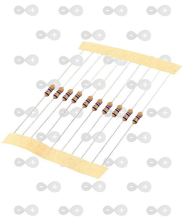 Resistor 100K 1/4W (tira com 10 unidades)