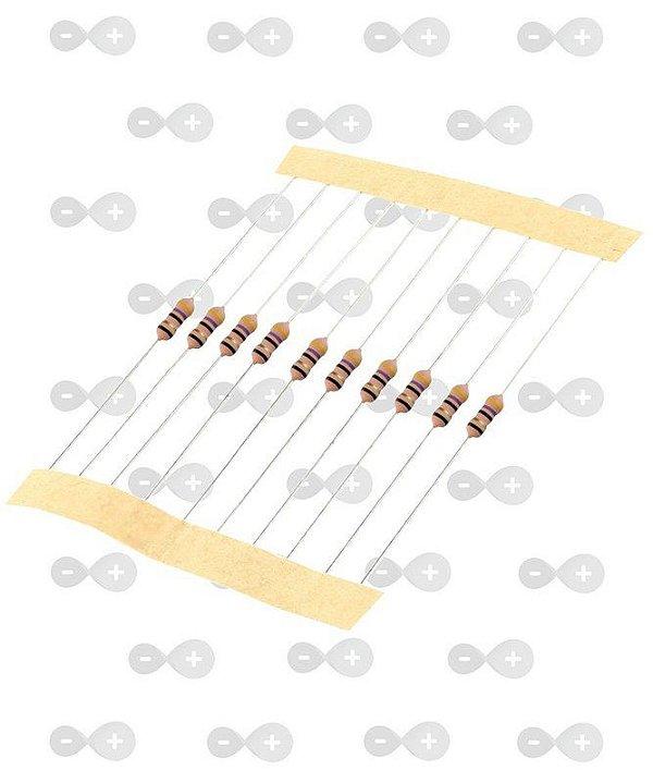 Resistor 75R 1/4W (tira com 10 unidades)
