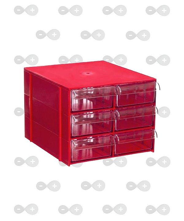 Conjunto de gaveteiro 3 módulos com 6 gavetas Cg 306
