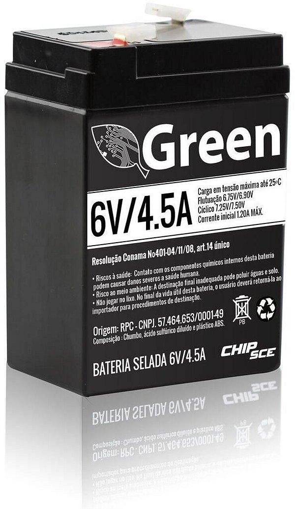 BATERIA SELADA 6V 4,5A GREEN