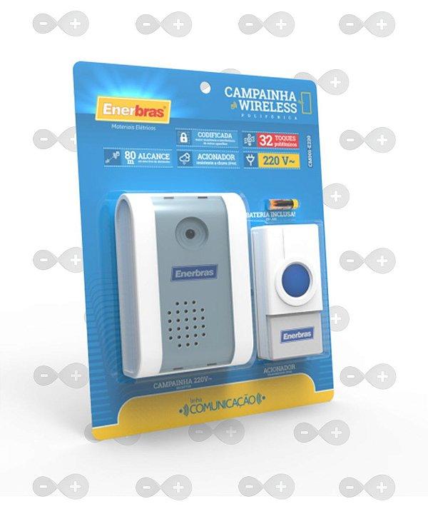 Campainha Wireless 220v - Cm001-e220 - Enerbras