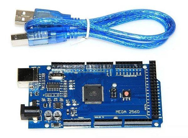 Placa Mega 2560 R3 CH340 Compatível + Cabo