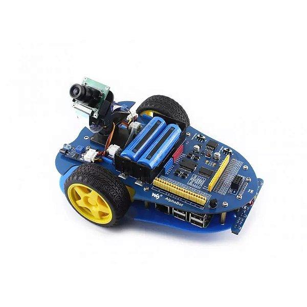 Kit Construção Alphabot-pi Robô - Pi 3b + Câmera + Alphabot