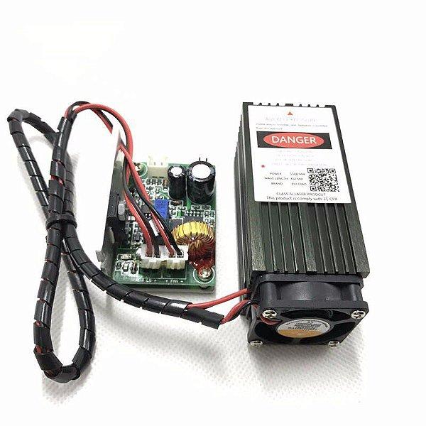 Laser 5.5w 5500mw Controle Ttl Cnc Laser + Óculos De Brinde