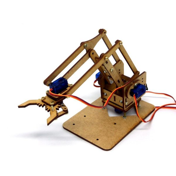 Braço Robótico MDF + Parafusos Ideal Para Arduino