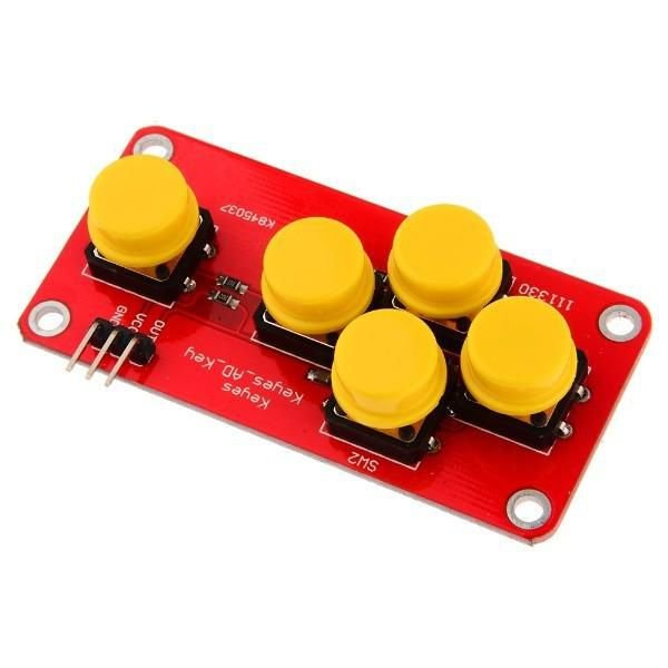 Mini Teclado Keypad Adkeypad Com 5 Botões Para Arduino Pic