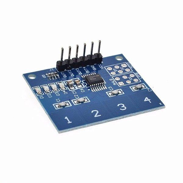 Módulo Sensor Touch Capacitivo 4 Vias TTP224