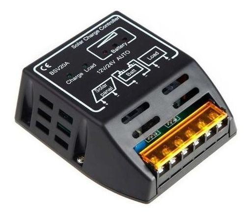 Controlador De Carga 20a 12v/24v 240w/480w Para Painel Solar