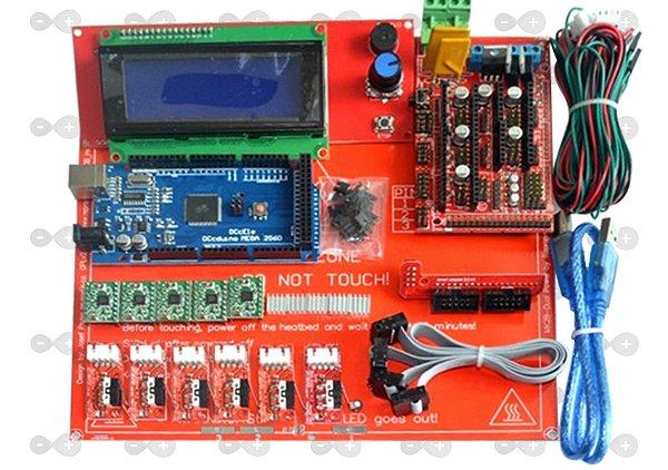 Kit Ramps 1.4 + Mega R3 + Mesa Aquecida +a4988 + Controladora LCD