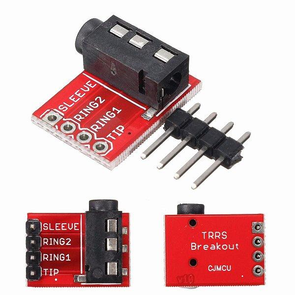Módulo Adaptador Plug P4 3.5mm MP3 Microfone