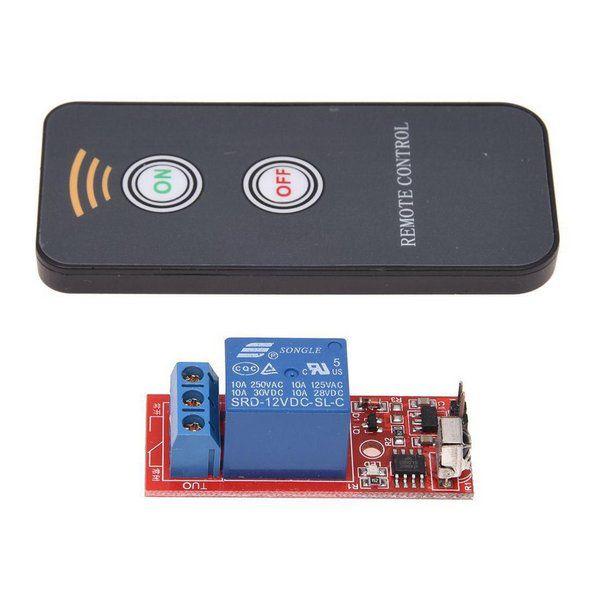 Controle Remoto IR com Receptor Relé 1 Canal 12V - 8m