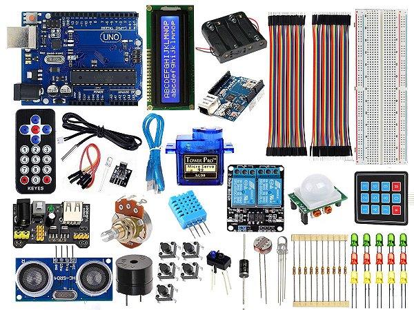 Kit Uno R3 Intermediário Automação Com Brinde - Arduino compatível