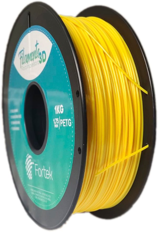 Filamento Pet-g 1,75 Mm 1kg - Amarelo (Yellow)