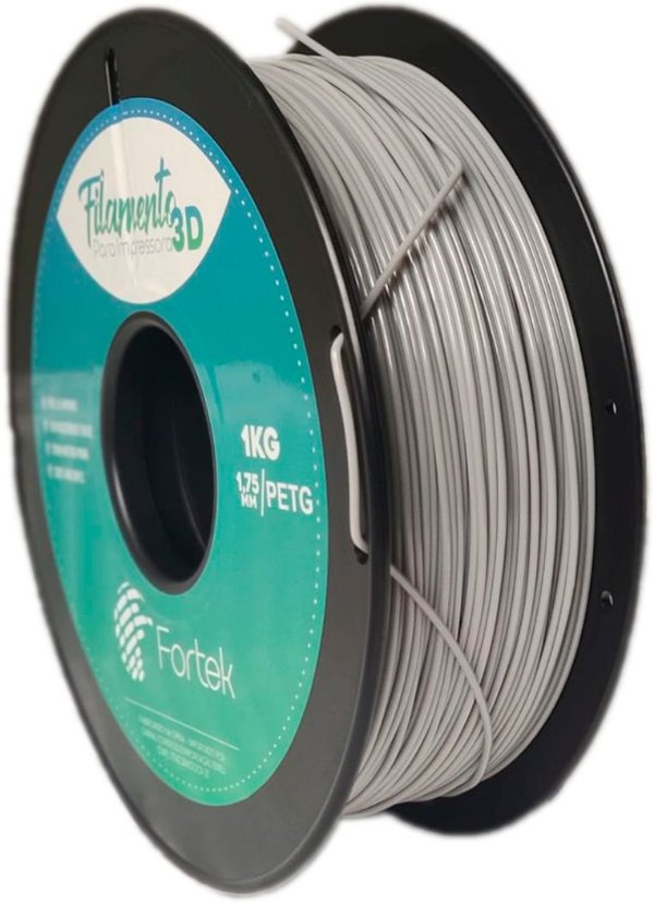 Filamento Pet-g 1,75 Mm 1kg - Cinza (Gray)