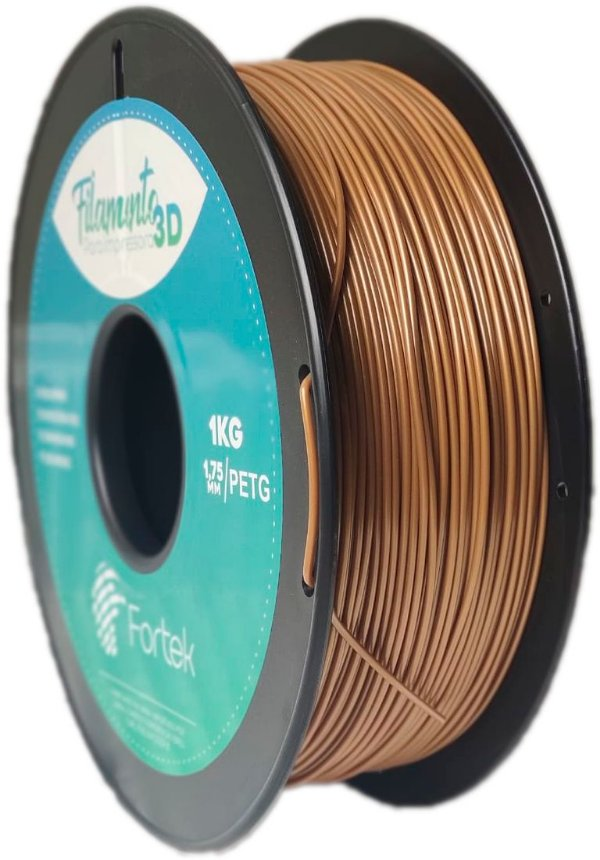 Filamento Pet-g 1,75 Mm 1kg - Dourado (Gold)