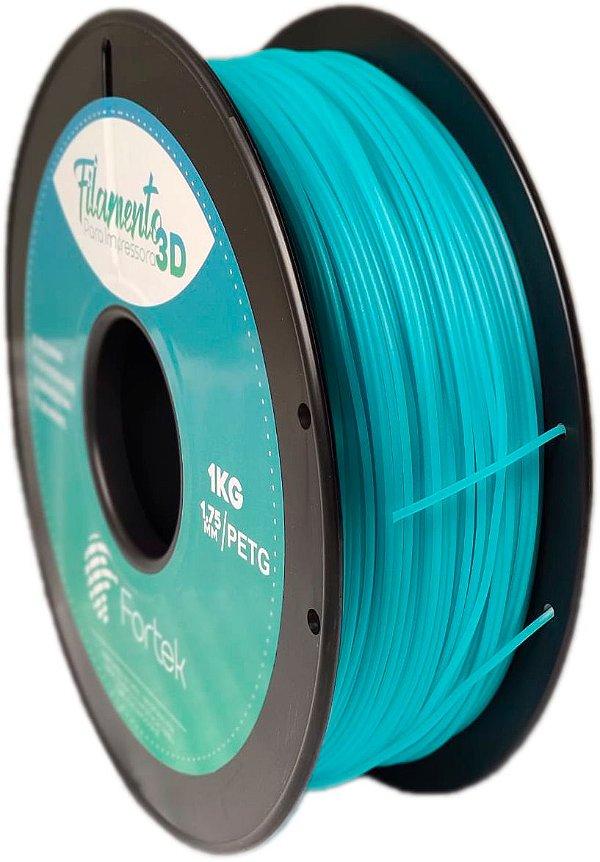 Filamento Pet-g 1,75 Mm 1kg - Azul Brilhante (Glowing Blue)