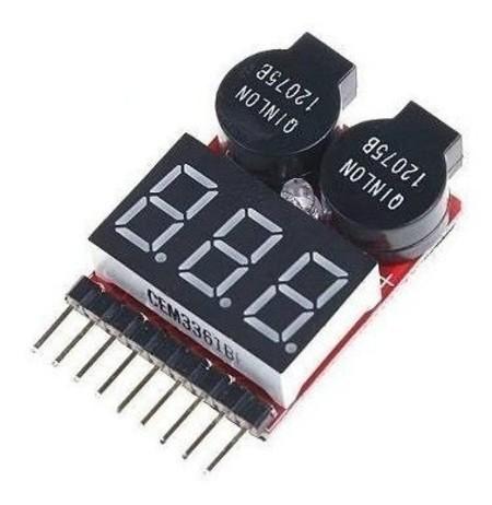 Módulo de Alarme Para Bateria de LIPO 1 A 8 Segundos