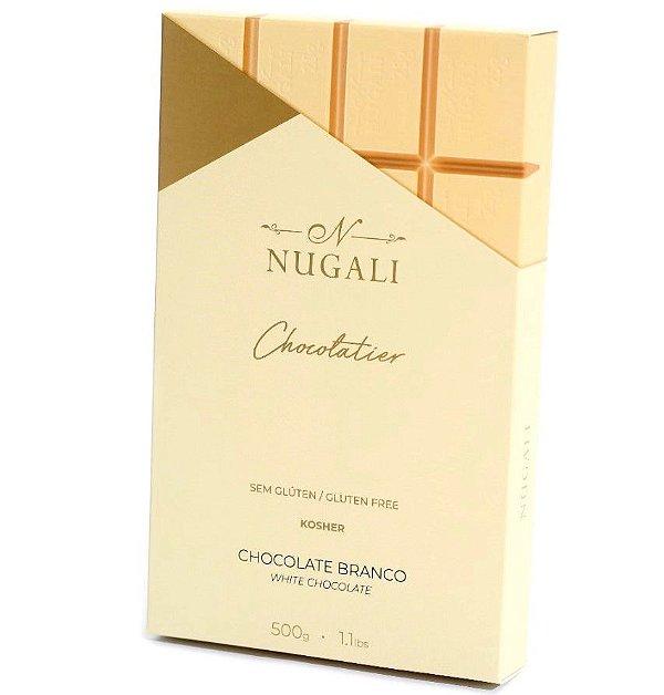 Chocolate Branco Nugali Barra de 500g Chocolatier