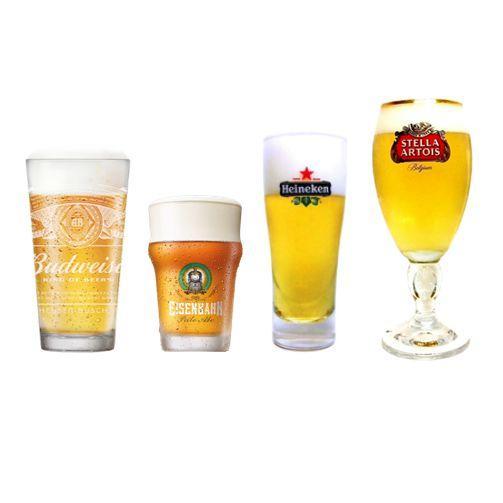 Kit 4 Copos Cerveja Happy Hour