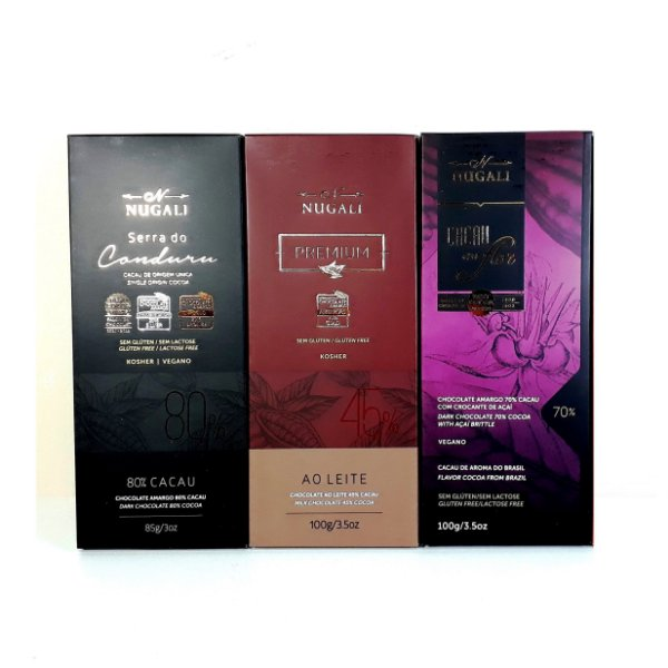 Chocolate Nugali Premium Kit 3 Unidades