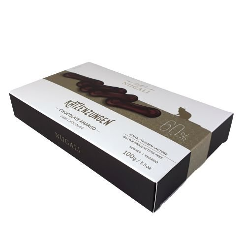 Chocolate Amargo Língua de Gato Katzenzungen Nugali 60% de Cacau