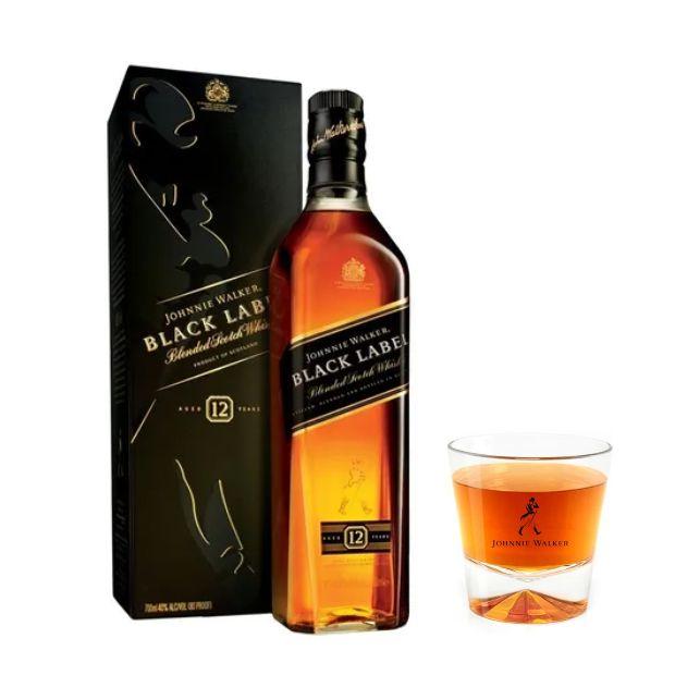 Whisky Johnnie Walker Black Label + copo