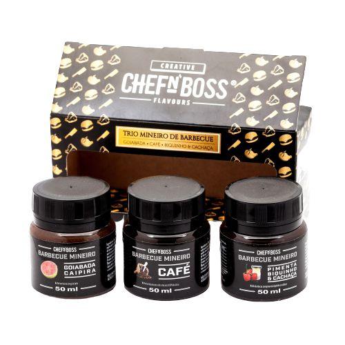 Kit Molho Barbecue Degustação 3 Sabores Chef N Boss