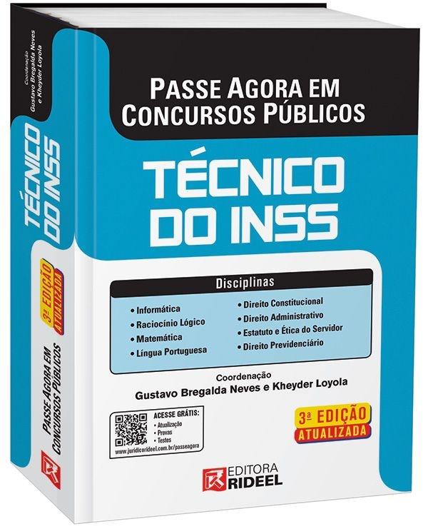 Passe Agora em Concursos Públicos -Técnico do INSS - 3ª edição