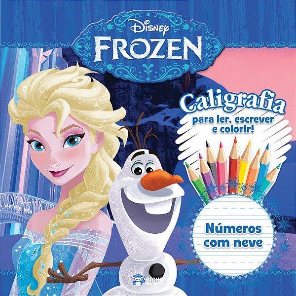 Caligrafia Frozen - NUMEROS COM NEVE