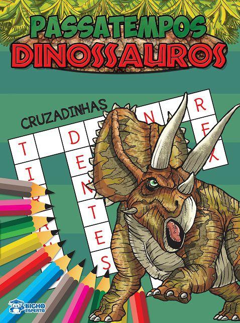 Passatempos Dinossauros - CRUZADINHAS