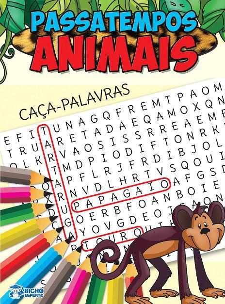 Passatempos Animais - CACA-PALAVRAS