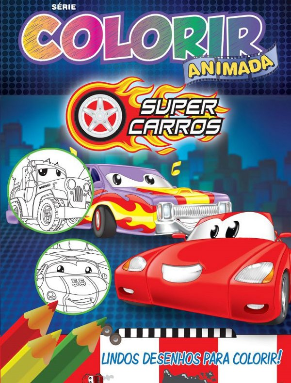 Colorir Animada - SUPER CARROS