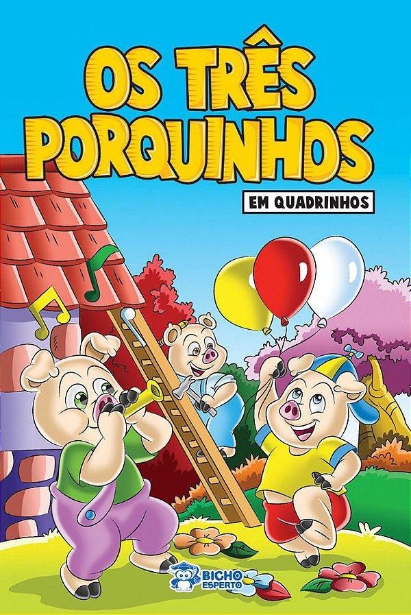 Em quadrinhos - OS 3 PORQUINHOS - PACOTE COM 10 VOLUMES IGUAIS