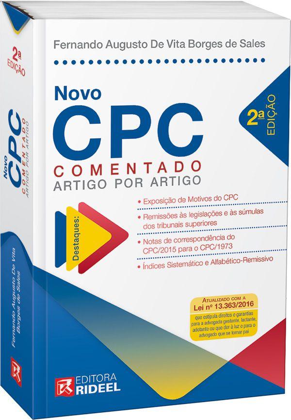 Novo CPC Comentado Artigo por Artigo - 2ª edição