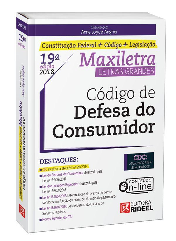Código de Defesa do Consumidor - Maxiletra - Constituição Federal + Codigo + Legislação