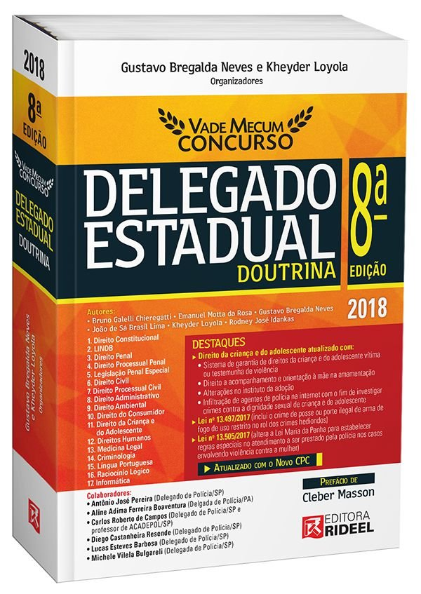 Vade Mecum Concurso – Delegado Estadual Doutrina - 8ª edição
