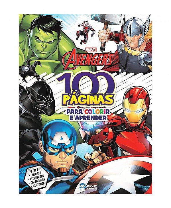 100 Páginas para Colorir - Marvel - AVENGERS