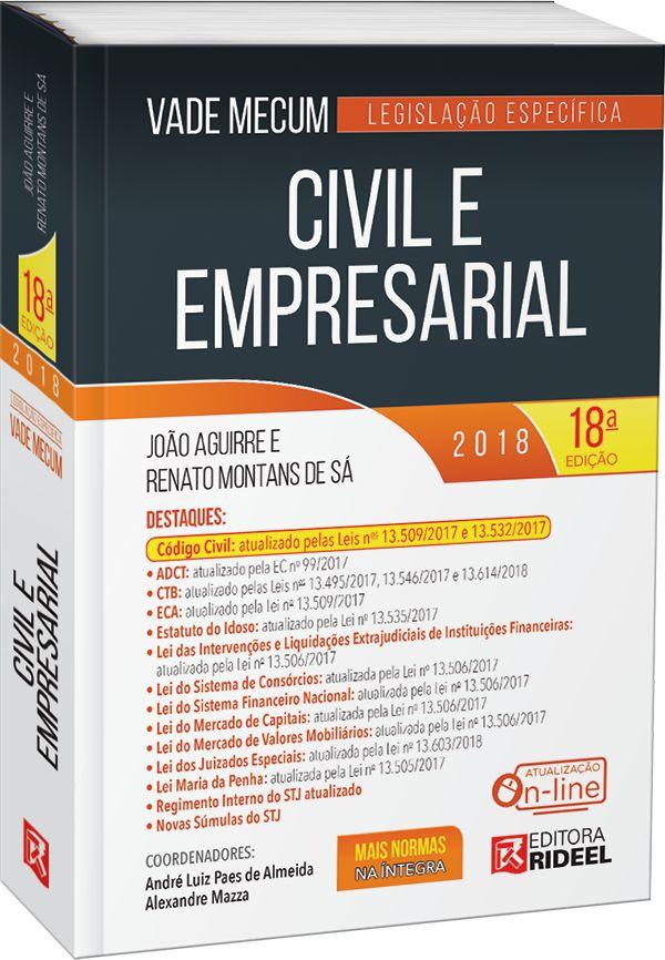 Vade Mecum Civil e Empresarial - Legislação Específica -18ª edição