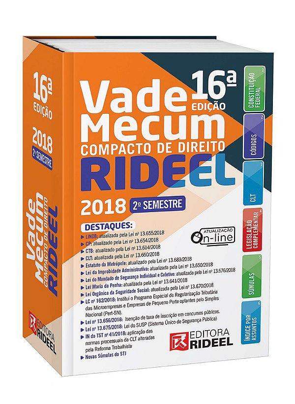 Vade Mecum Compacto de Direito  -16ª edição - 2018