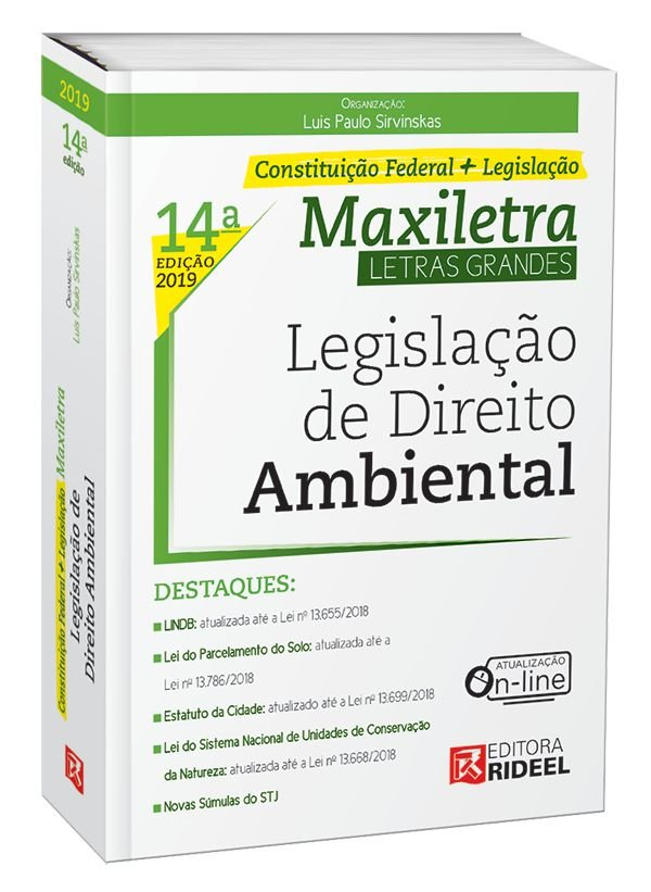Legislação de Direito Ambiental –  MAXILETRA – Constituição Federal + Legislação - 14ª edição