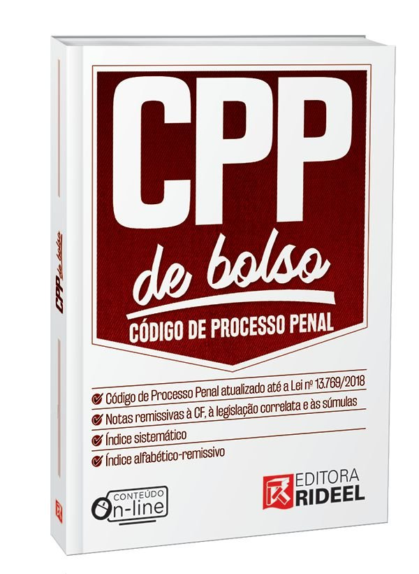 Código de Processo Penal -  CPP de bolso - 1ª edição