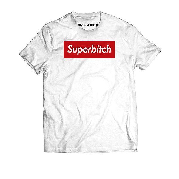 Camiseta Masculina - Superbitch Branca