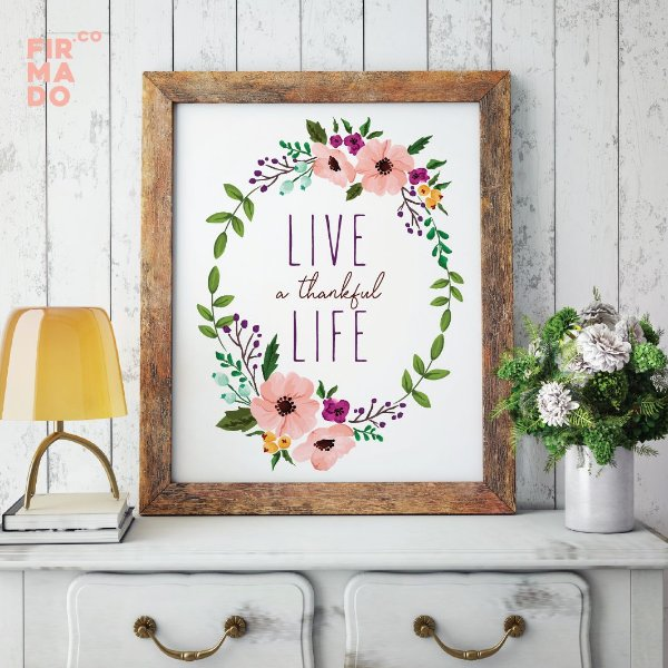 LIVE A THANKFUL LIFE