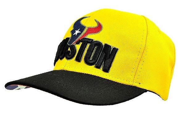 c155359ee9b5b Boné Amarelo E Preto Houston Love Horse Nacional - Zona Country ...
