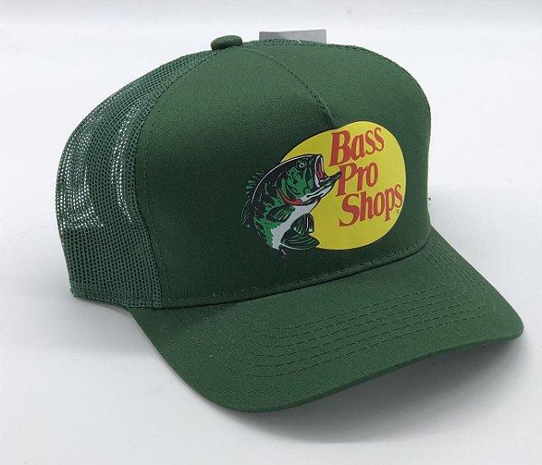 boné bass pro shops verde estampado 7503