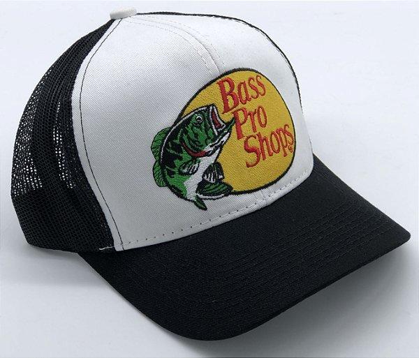 Boné Bass Pro Shops Preto Bordado 7507