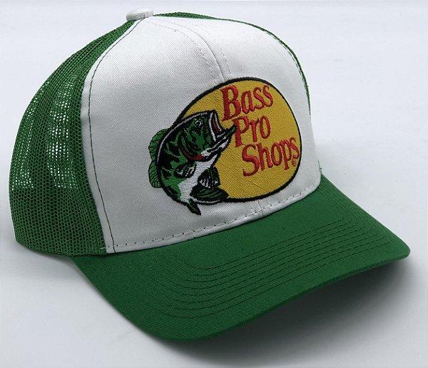 Boné Bass Pro Shops Verde Bordado 7508