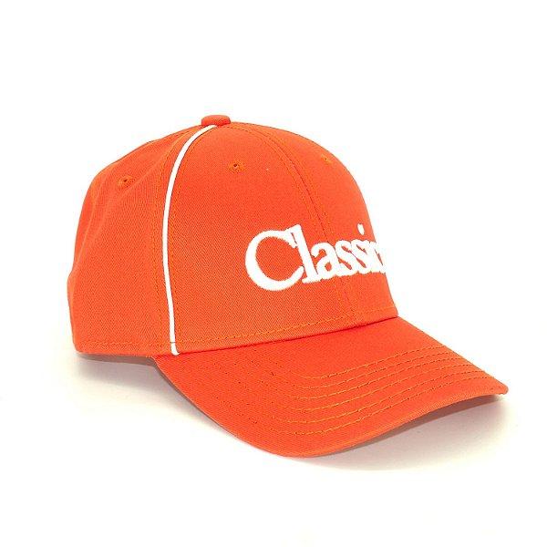 boné laranja bordado classic